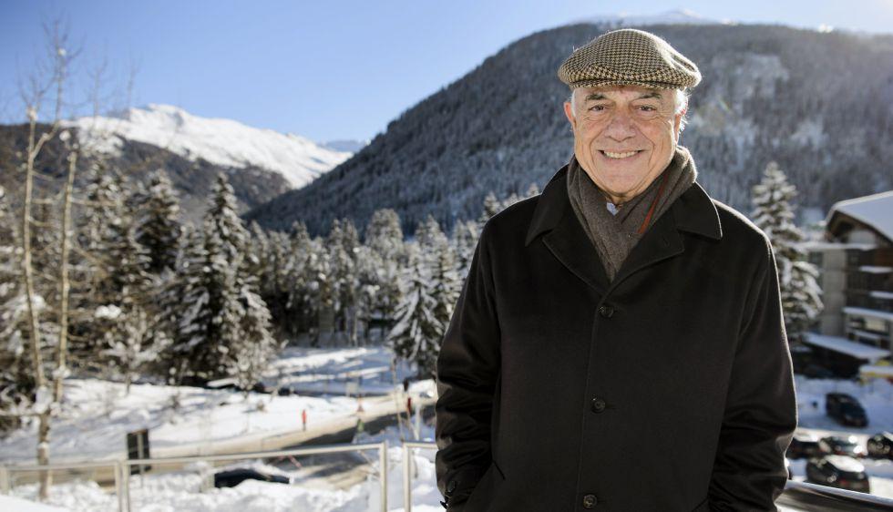 El presidente de BBVA, Francisco González, en Davos el 21 de enero de 2016.