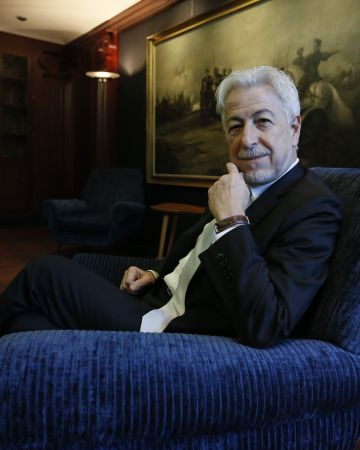 Oussama Khatib, en la sede de la Fundación BBVA en Madrid.