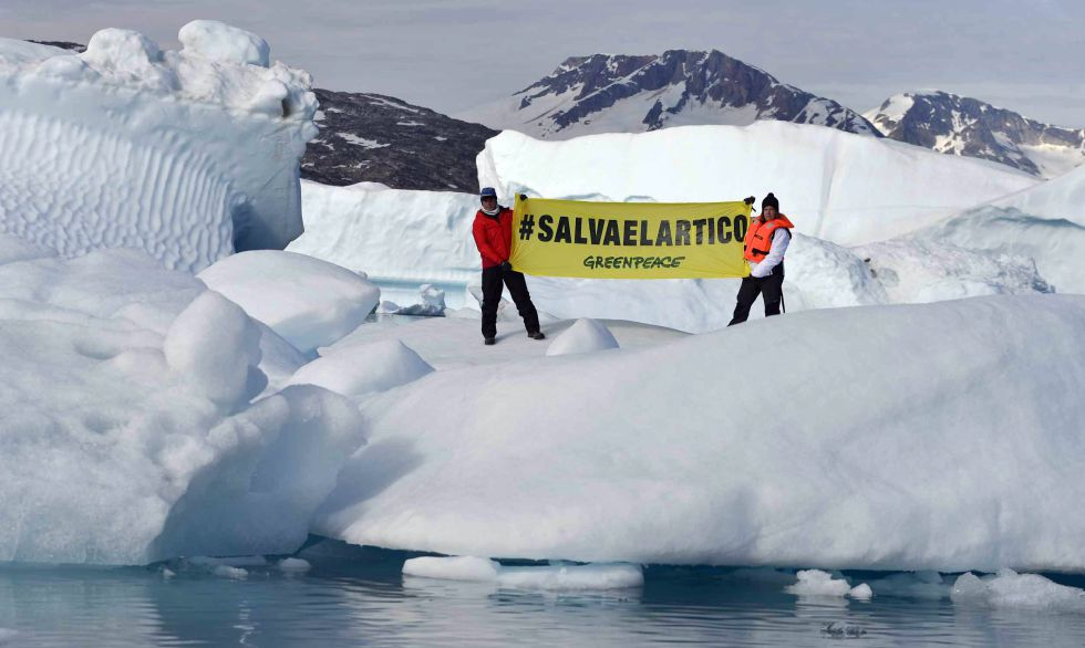 "Expedición ""Save the Arctic"" en Groenlandia."