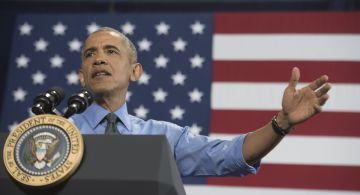 El presidente de EE UU, Barak Obama, durante una intervención en Detroit.
