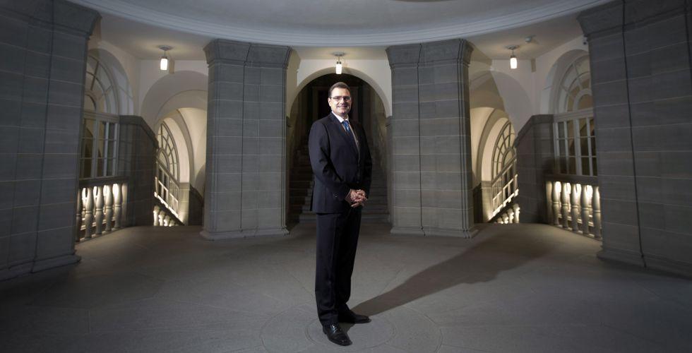 Thomas Jordan, presidente del Banco Nacional de Suiza.