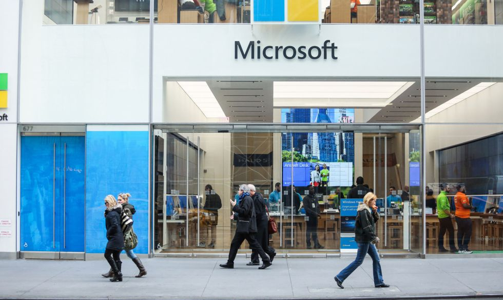A Microsoft store in New York.