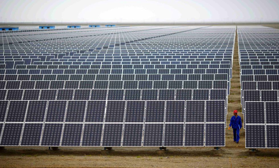 Una instalación de energía solar