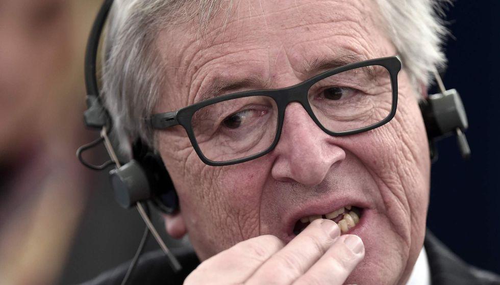 El presidente de la Comisión Europea, Jean-Claude Juncker, en el Parlamento Europeo.