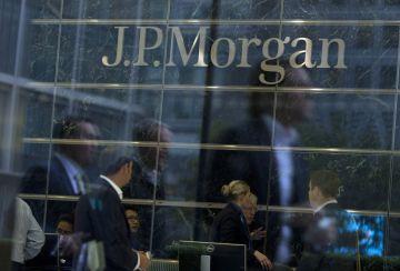 Logo de JPMorgan Chase en su sede en Londres