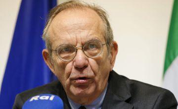 El ministro de Economía y Finanzas italiano, Pier Carlo Padoan.