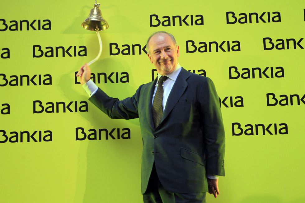Rodrigo Rato, former head of Bankia, on the day of the stock market launch.