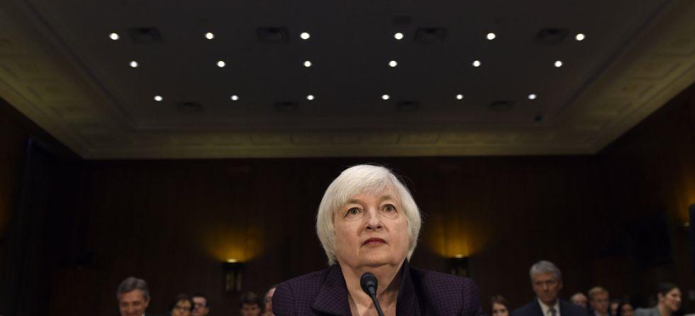 La presidenta de la Fed, Janet Yellen, el pasado febrero en el Congreso de Estados Unidos.
