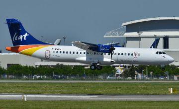 Un avión de la aerolínea caribeña Liat
