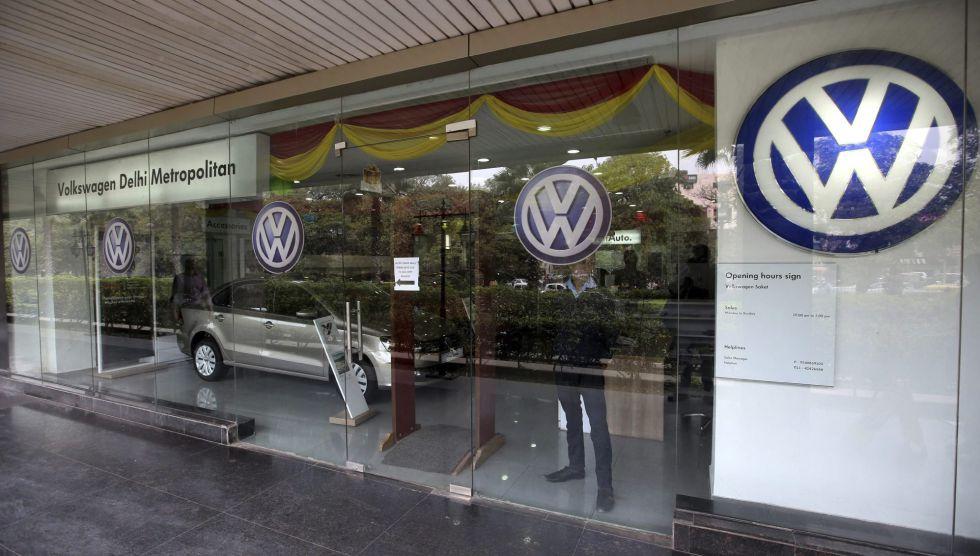Vista de un concesionario de Volkswagen