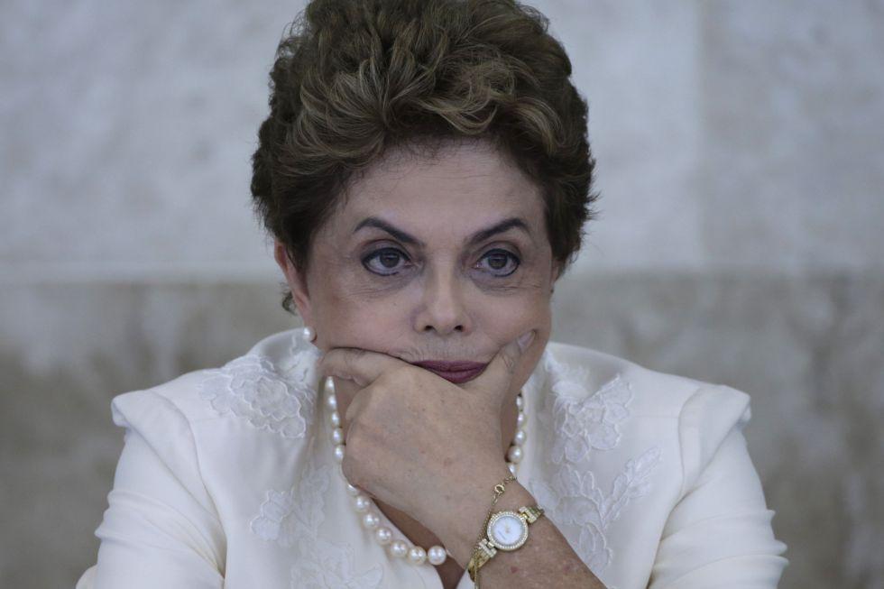 La presidenta brasileña, Dilma Rousseff, en el Consejo De Desarrollo Económico.