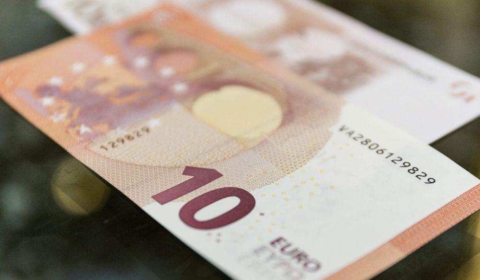 Un billete de 10 euros.