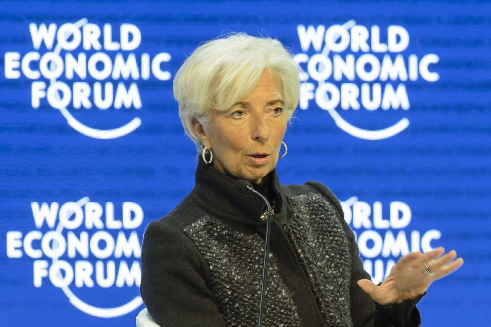 La directora gerente del FMI, Christine Lagarde, en el último Foro de Davos.