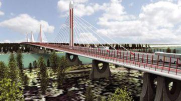 Una imagen del proyecto de circunvalación de Bratislava (Eslovaquia).