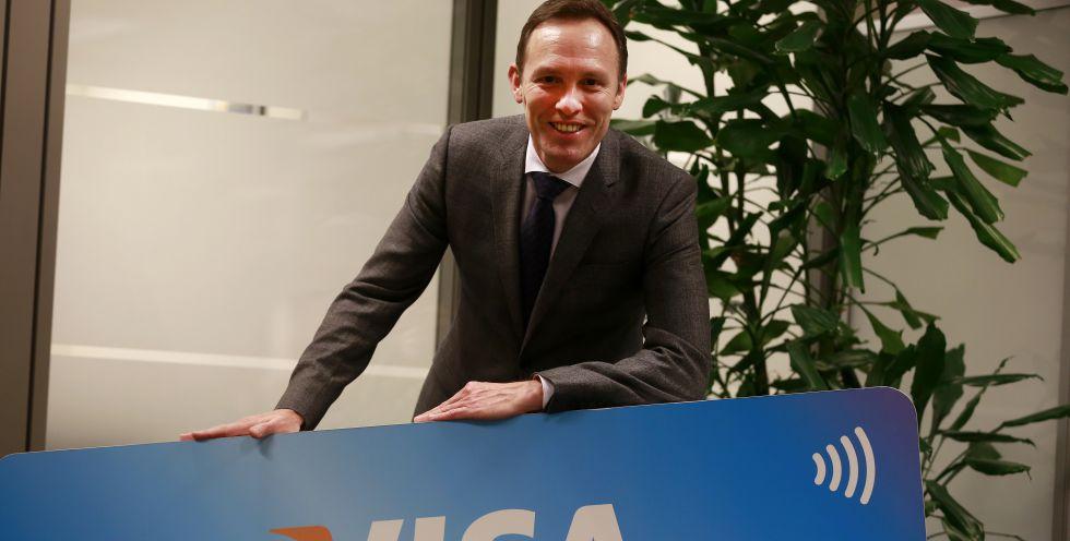 Nicolas Huss, en la sede de Visa en Madrid
