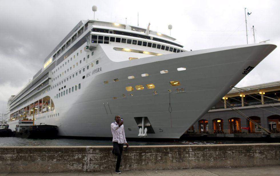 Un crucero de la compañía MSC, en La Habana el 13 de enero de 2016.