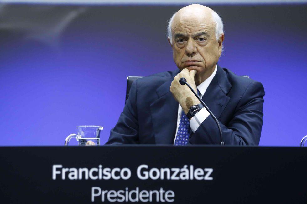 El presidente de BBVA, Francisco González