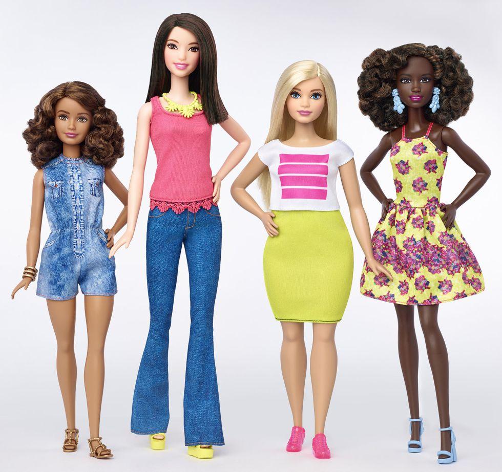 Nuevos modelos de las muñecas Barbie, de Mattel