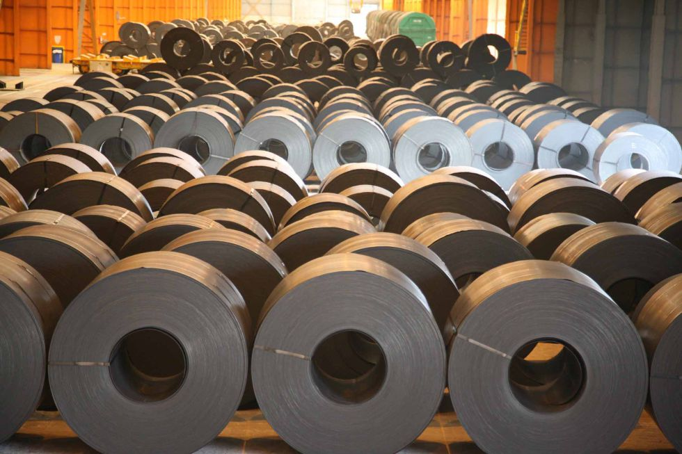 Bobinas de acero en la planta de Arcelor en Sestao (Vizcaya)