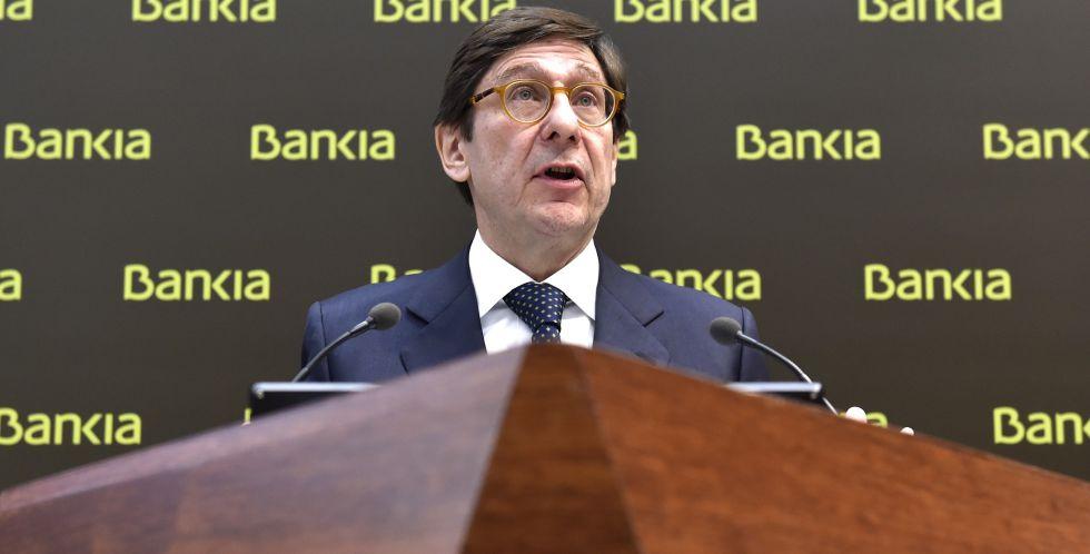 El presidente de Bankia, José Ignacio Goirigolzarri, durante la presentación de resultados el lunes.