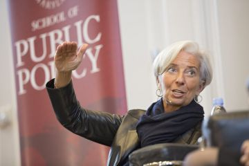 A diretora do FMI, Christine Lagarde.