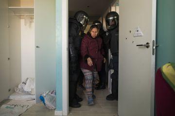 Una mujer es desahuciada en Madrid