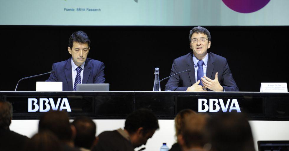 Rafael Doménech y Jorge Sicilia, de BBVA Research.