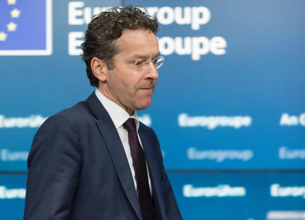 El presidente del Eurogrupo, Jeroen Dijsselbloem, este jueves en Bruselas.