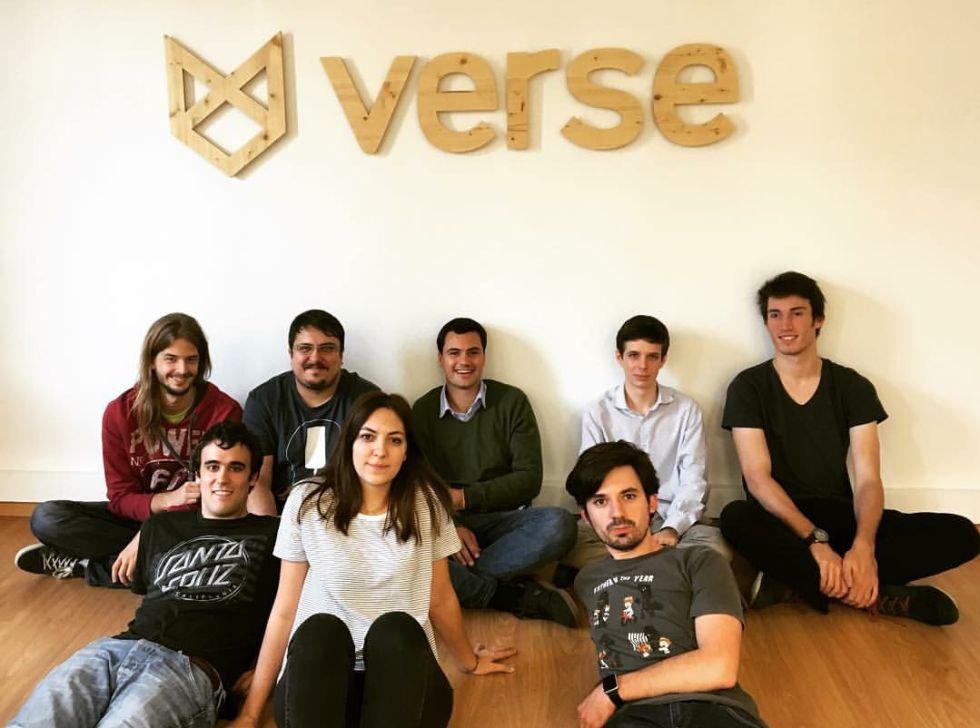 El equipo de Verse en su oficina.