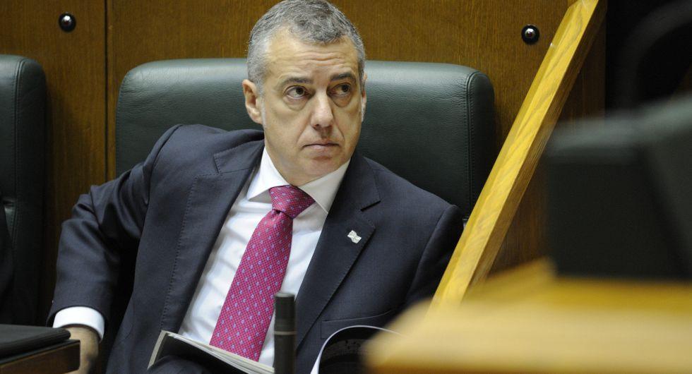 El lehendakari, Íñigo Urkullu, en el Parlamento Vasco.