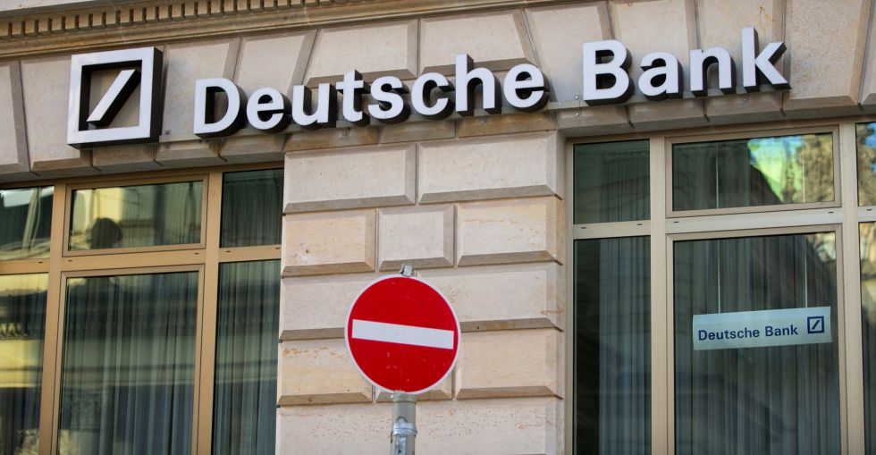 Oficina de Deutsche Bank en Hamburgo (Alemania)
