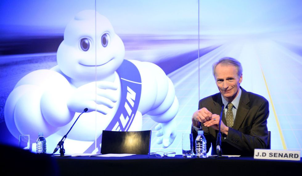 El presidente de Michelin, Jean-Dominique Senard, en París el 16 de febrero de 2016.