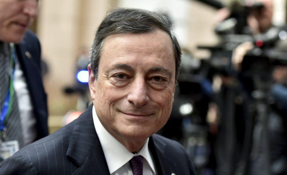 El presidente del Banco Central Europeo, Mario Draghi, en la cumbre de Bruselas donde se discute un acuerdo con Reino Unido sobre 'Brexit'