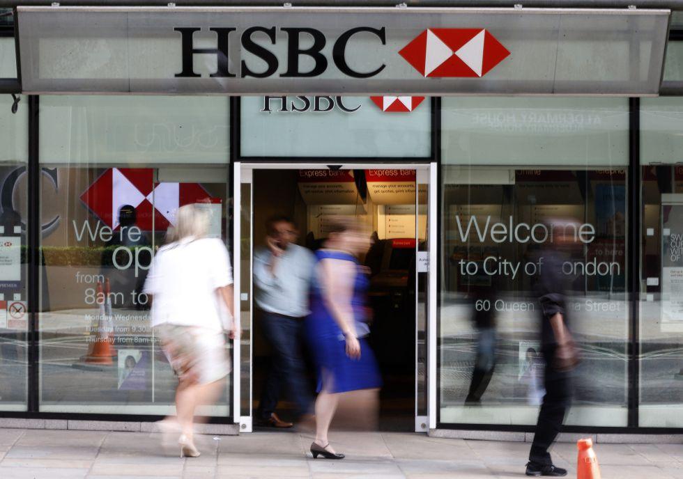 Una oficina del HSBC en Londres