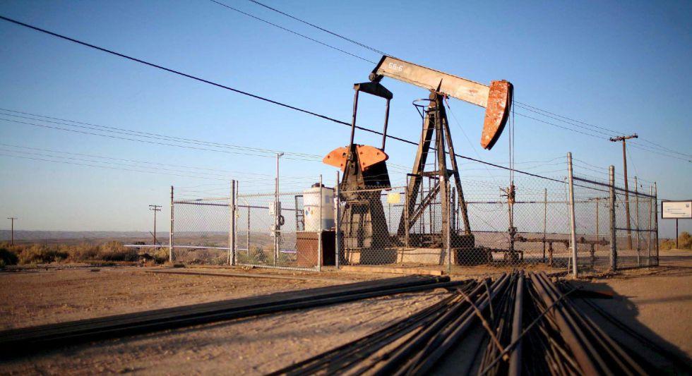 Un pozo de producción de petróleo en Texas