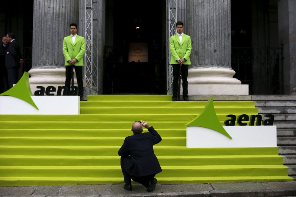 La Bolsa de Madrid el año pasado en el estreno en el parqué de AENA