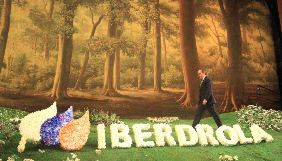 El presidente de Iberdrola, Ignacio Sanchez Galán, durante la junta general de accionistas de Iberdrola