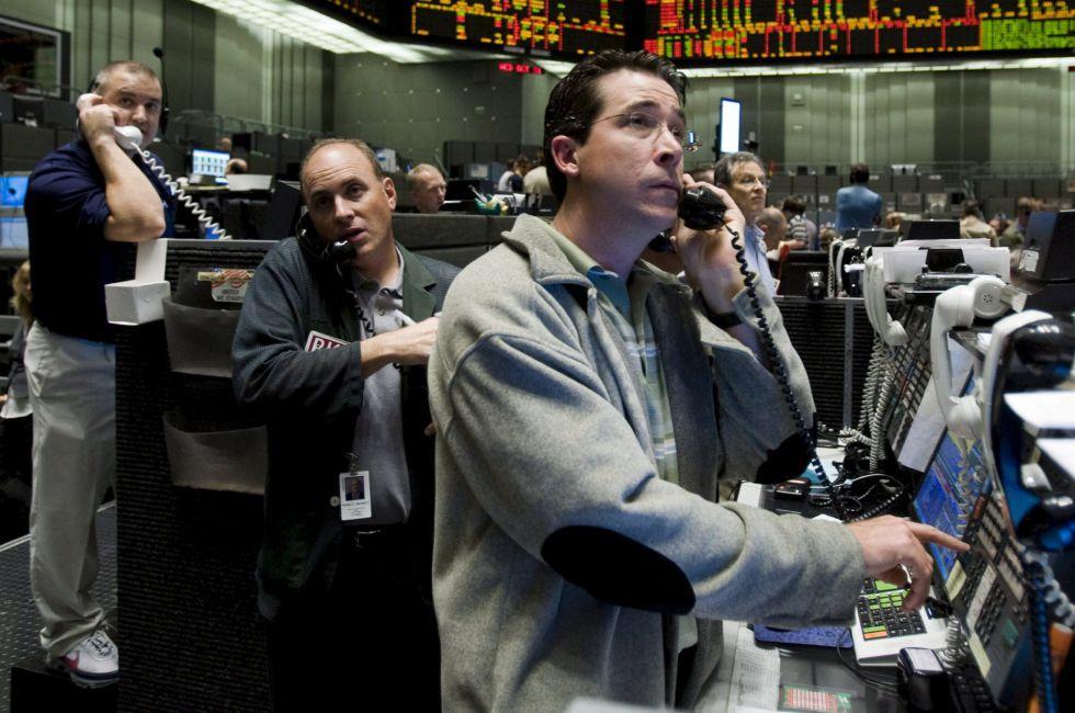 Operadores en el mercado de bonos de Chicago