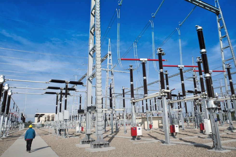 Central de distribución eléctrica.