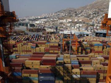 Terminal del puerto de El Pireo (Grecia)