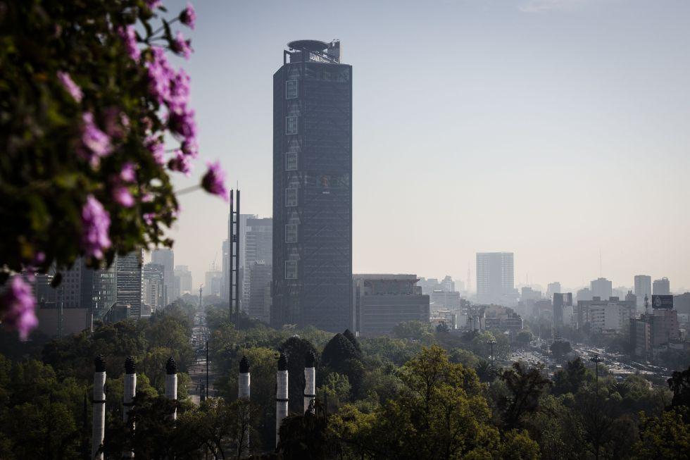 Vista de la sede de BBVA en Ciudad de México.
