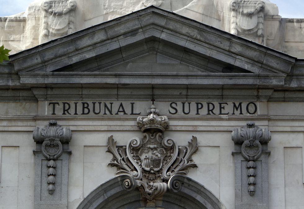 Fachada del Tribunal Supremo, en Madrid