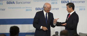 Francisco González, presidente del BBVA, y Enrique Pena Nieto, presidente de México.