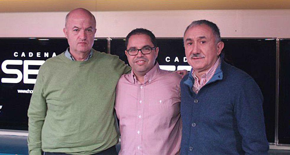 De izquierda a derecha, Miguel Ángel Cilleros, Gustavo Santana y Josep Maria Álvarez.