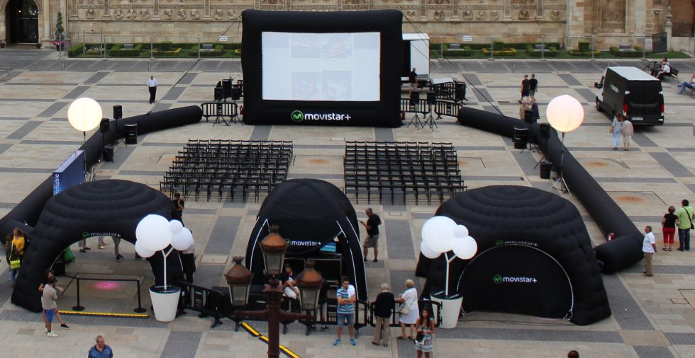 Promoción de cine de verano de Movistar +.