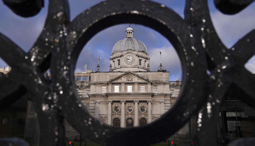 La sede del Gobierno irlandés en Dublín, Irlanda.
