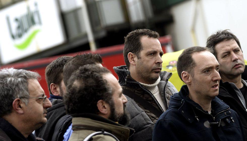 Trabajadores de Industrias Lácteas Vallisoletas (ILV), controlado por la multinacional Lactalis.