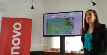 Maite Ramos, directora de consumo de Lenovo, durante la presentación de resultados.