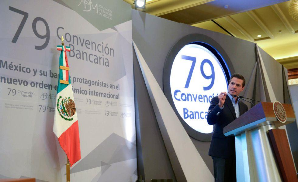 El presidente Peña Nieto, durante la conferencia