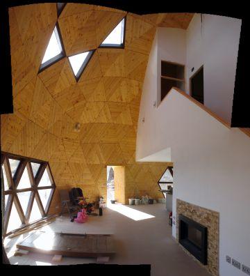 Interior de la casa en Yecla.